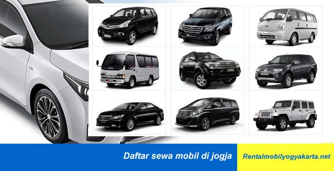 Daftar Sewa Mobil di Jogja