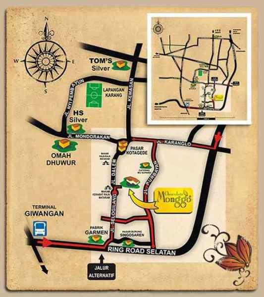 Peta Lokasi Kotagede